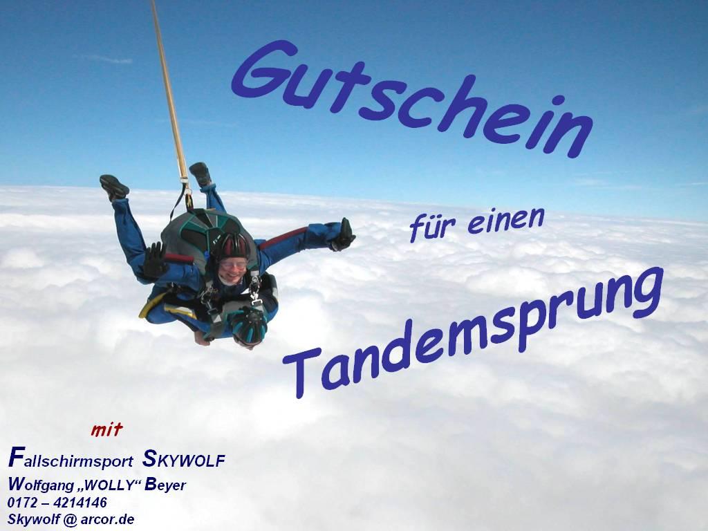 37 Gut Gutschein Fallschirmsprung Vorlage